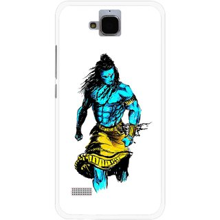Snooky Printed Bhole Nath Mobile Back Cover For Huawei Honor Holly - Multicolour