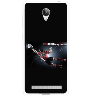 Snooky Printed Football Passion Mobile Back Cover For Vivo Y28 - Multicolour