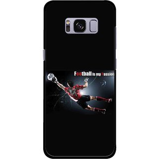 Snooky Printed Football Passion Mobile Back Cover For Samsung Galaxy S8 Plus - Multicolour