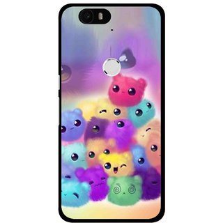Snooky Printed Cutipies Mobile Back Cover For Huawei Nexus 6P - Multi