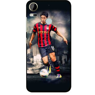 Snooky Printed Football Mania Mobile Back Cover For HTC Desire 10 Pro - Multi