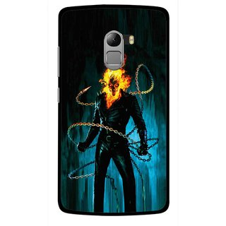 Snooky Printed Ghost Rider Mobile Back Cover For Lenovo K4 Note - Multicolour