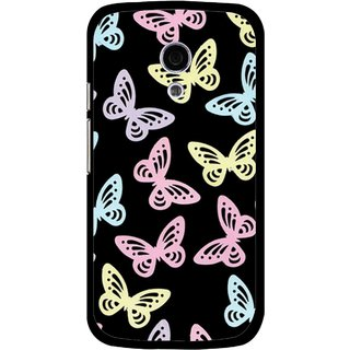Snooky Printed Butterfly Mobile Back Cover For Moto G2 - Multi