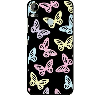 Snooky Printed Butterfly Mobile Back Cover For HTC Desire 10 Pro - Multi