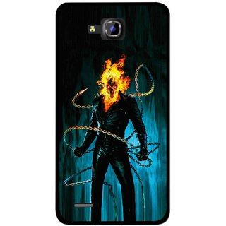 Snooky Printed Ghost Rider Mobile Back Cover For Huawei Honor 3C - Multicolour