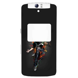 Snooky Printed Music Mania Mobile Back Cover For Oppo N1 - Multi