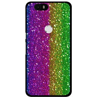 Snooky Printed Sparkle Mobile Back Cover For Huawei Nexus 6P - Multi