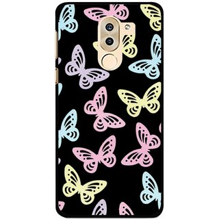 Snooky Printed Butterfly Mobile Back Cover For Huawei Honor 6X - Multi