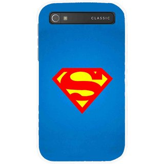 Snooky Printed Super Logo Mobile Back Cover For Blackberry Classic - Multicolour