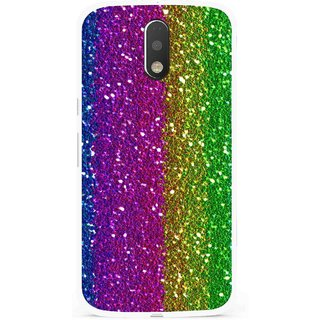 Snooky Printed Sparkle Mobile Back Cover For Moto G4 Plus - Multi