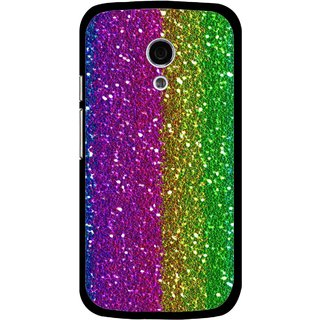 Snooky Printed Sparkle Mobile Back Cover For Moto G2 - Multi