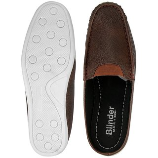 Blinder Brown Half Back Open Casual Loafers Shoes for Men