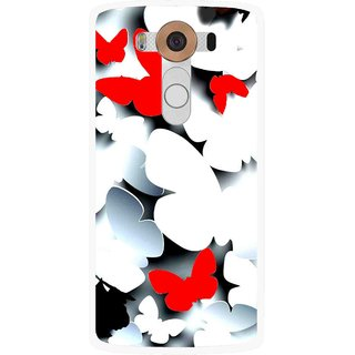 Snooky Printed Butterfly Mobile Back Cover For Lg V10 - Multi