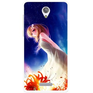 Snooky Printed Angel Girl Mobile Back Cover For Gionee Marathon M4 - Multicolour