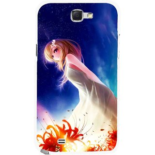 Snooky Printed Angel Girl Mobile Back Cover For Samsung Galaxy Note 2 - Multicolour
