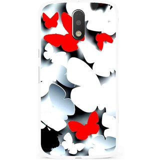 Snooky Printed Butterfly Mobile Back Cover For Moto G4 Plus - Multi