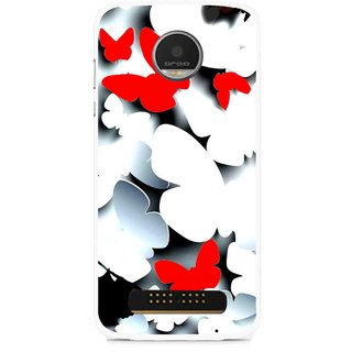 Snooky Printed Butterfly Mobile Back Cover For Moto Z - Multi
