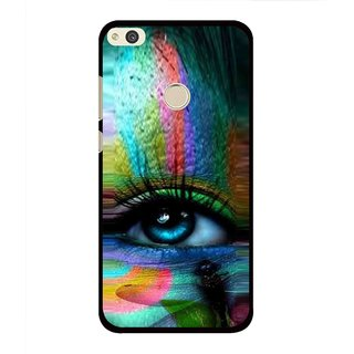 Snooky Printed Designer Eye Mobile Back Cover For Huawei Honor 8 Lite - Multi
