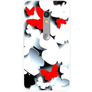 Snooky Printed Butterfly Mobile Back Cover For Motorola Moto X Play - Multi