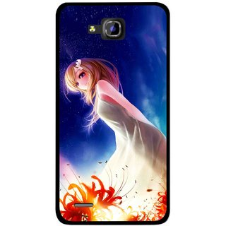 Snooky Printed Angel Girl Mobile Back Cover For Huawei Honor 3C - Multicolour