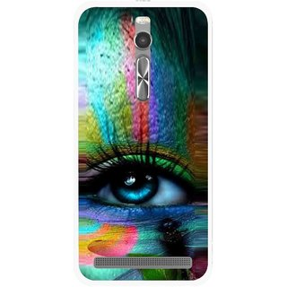 Snooky Printed Designer Eye Mobile Back Cover For Asus Zenfone 2 - Multi