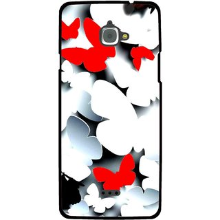 Snooky Printed Butterfly Mobile Back Cover For Infocus M350 - Multi