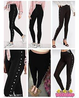 Minha Stylish Pearl Legging/Jegging / Gym Wear /Running Wear / Party Wear /Casual Wear