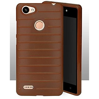 ECellStreet Protection Brick Soft Back Cover For Itel Wish A41 Plus / A41 + - Brown