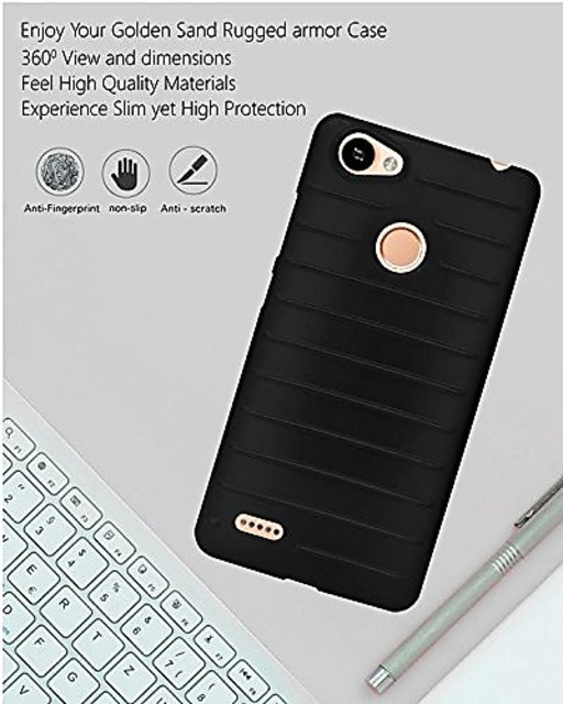 ECellStreet Protection Brick Soft Back Cover For Itel Wish A41 Plus / A41 +  - Black
