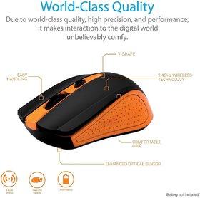Portronics POR-597 Arrow Wireless USB Mouse ( Orange) O