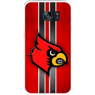 Snooky Printed Red Eagle Mobile Back Cover For Samsung Galaxy S7 Edge - Multicolour