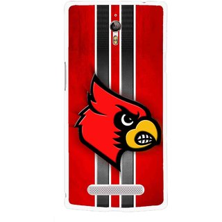 Snooky Printed Red Eagle Mobile Back Cover For Oppo Find 7 - Multicolour