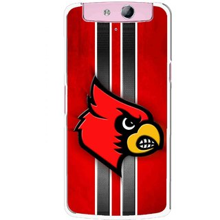 Snooky Printed Red Eagle Mobile Back Cover For Oppo N1 - Multicolour
