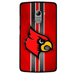 Snooky Printed Red Eagle Mobile Back Cover For Lenovo K4 Note - Multicolour