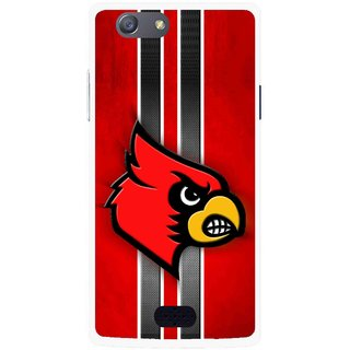 Snooky Printed Red Eagle Mobile Back Cover For Oppo Neo 5 - Multicolour