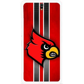 Snooky Printed Red Eagle Mobile Back Cover For Sony Xperia C5 - Multicolour