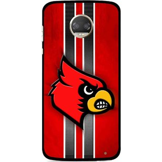 Snooky Printed Red Eagle Mobile Back Cover For Motorola Moto Z2 Play  - Multicolour