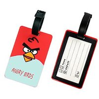 Angry Birds Printed Soft PVC Luggage Tag/travel Bag Tag Boy/girl Gift Funcky