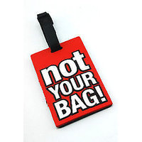 Humorous Words Printed Soft PVC Luggage Tag /travel Bag Tag Boy/girl Gift Funcky