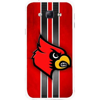 Snooky Printed Red Eagle Mobile Back Cover For Samsung Galaxy A8 - Multicolour