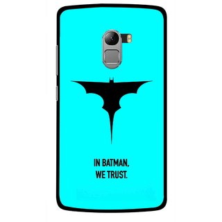 Snooky Printed We Trust Mobile Back Cover For Lenovo K4 Note - Multicolour