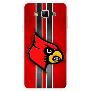 Snooky Printed Red Eagle Mobile Back Cover For Samsung Galaxy E7 - Multicolour