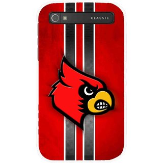 Snooky Printed Red Eagle Mobile Back Cover For Blackberry Classic - Multicolour