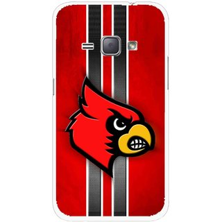 Snooky Printed Red Eagle Mobile Back Cover For Samsung Galaxy J1 - Multicolour