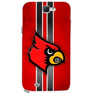 Snooky Printed Red Eagle Mobile Back Cover For Samsung Galaxy Note 2 - Multicolour