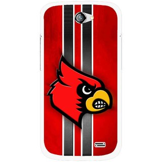 Snooky Printed Red Eagle Mobile Back Cover For Gionee Pioneer P2 - Multicolour