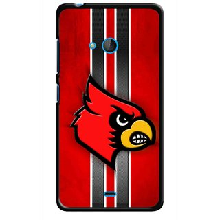 Snooky Printed Red Eagle Mobile Back Cover For Nokia Lumia 540 - Multicolour