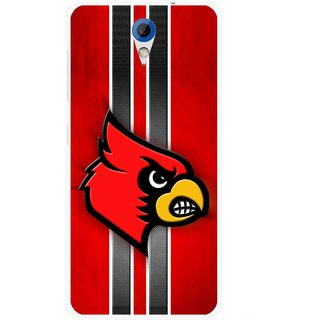 Snooky Printed Red Eagle Mobile Back Cover For HTC Desire 620 - Multicolour