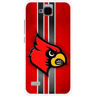 Snooky Printed Red Eagle Mobile Back Cover For Huawei Honor Holly - Multicolour