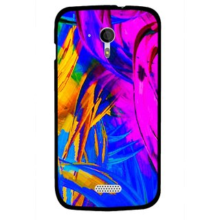 Snooky Printed Color Bushes Mobile Back Cover For Micromax A116 - Multi